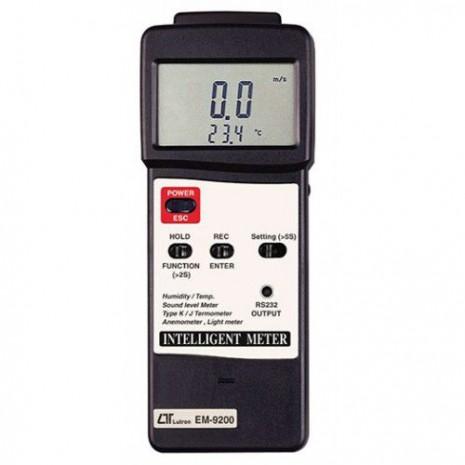 Thiết bị đo tốc độ gió, ánh sáng, độ ồn, nhiệt độ, độ ẩm môi trường 5 in 1 LUTRON EM-9200