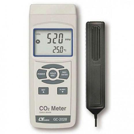 Máy đo nồng độ khí CO2, nhiệt độ môi trường LUTRON GC-2028