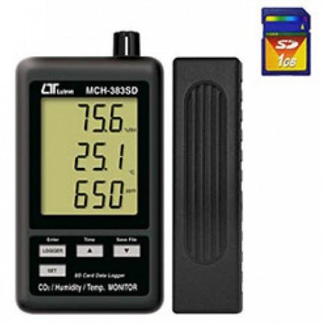 Máy đo nồng độ khí CO2, nhiệt độ, độ ẩm môi trường LUTRON MCH-383SD